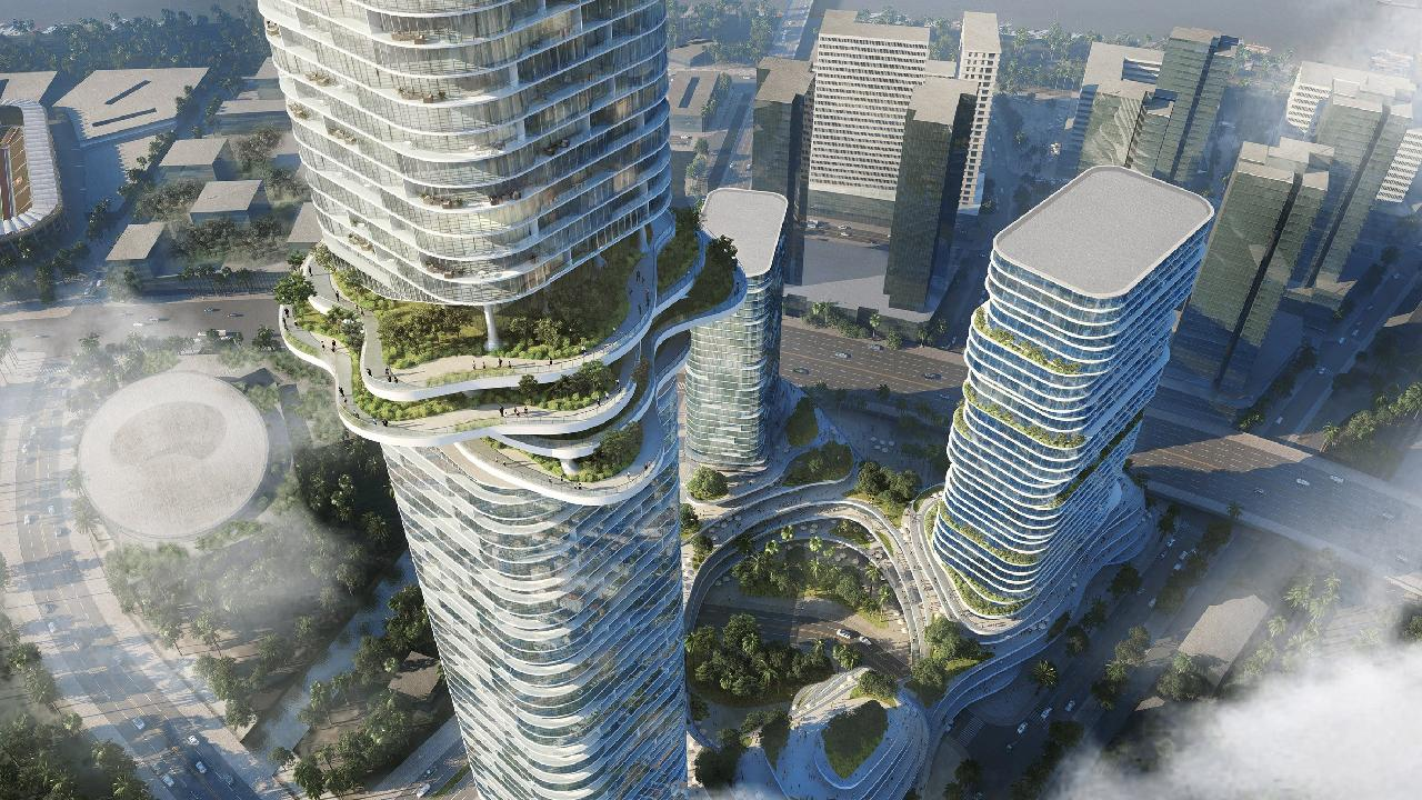 Ole Scheeren references mountain landscapes in design for Vietnam skyscraper blog bimK 5